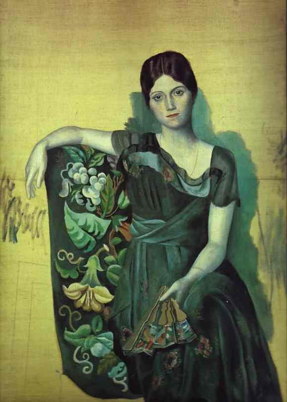 Пабло Пикассо. Портрет Ольги в кресле. 1917 год